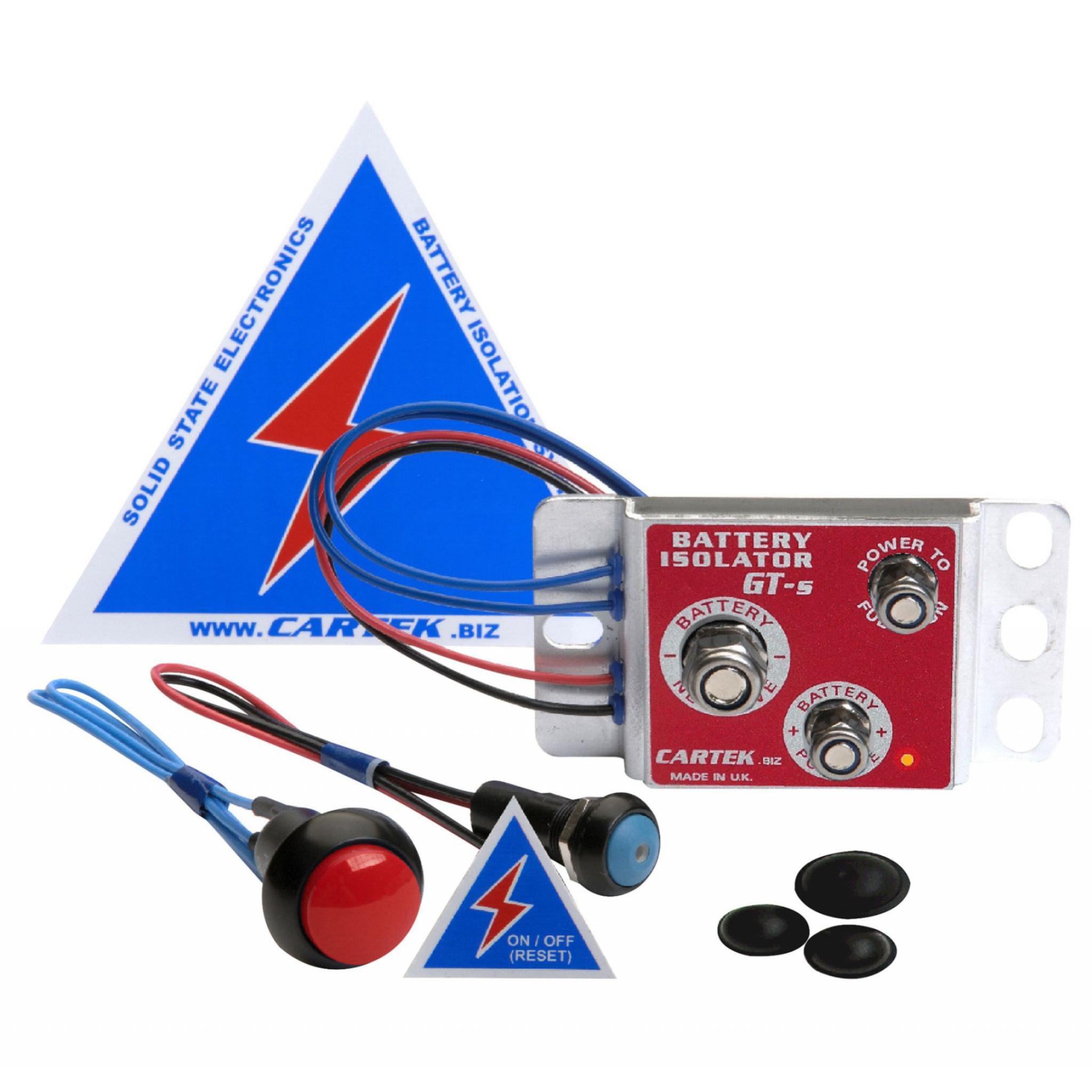 Red Cartek Motorsport Racing External Kill Button For Battery Isolater Kit